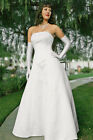 Ivy Strapless Corset Wedding Dress Gown Sizes 6-8-10-12-14 Ivory Brand New!