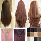 8 Piece Full Head Clip In Hair Extension Extensions Real Thick As Human Hair 4P5