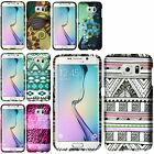 For Samsung Galaxy S6 Edge Rubberized Snap On Hard Pattern Ultra Thin Cover Case