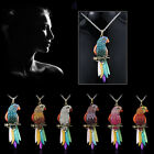 Special Colorful Crystal Parrot Pendant Necklace Sweater Chain Wedding new Gifts