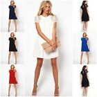 New Women's Summer Casual Chiffon Lace Blouse Dresses Cocktail Short Mini Dress