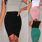 SUMMER Sexy Women Mini Tight Skirts Short Wrap Dress Slim Stretch Vintage Skirts