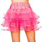 Ladies 80's Ruffle tutus Outfit Accessory for Fancy Dress Womens
