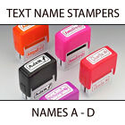 KIDS TEXT PLASTIC NAME STAMPERS *SELECT A NAME A - D* BOXER GIFTS BRAND NEW