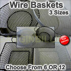 12 Or 6 Wire Baskets Home Deco Kitchen Crafting Fishing Cooking 3 Sizes 2 Colour