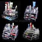 PLE - Clear Cosmetic Jewelry Rack Makeup Organizer Box Case with Storage Drawer