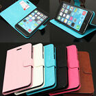 Flip Folio PU Leather Wallet Stand Card Case Cover For Apple iPhone 6 / 6 Plus