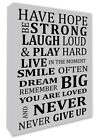 Inspirational Have Hope Wall Hanging Picture SILVER Grey Wall Canvas Print A1+