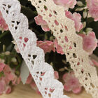 18 Yards Cotton Crochet Scallop Embroidered Stretch Lace Edge Trim DIY Craft