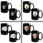 Choose Your NBA Team Primary Logo 2PC 15oz Black Ceramic Coffee Mug Set - 2 Mugs