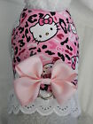 DOG CAT FERRET Harness~HELLO KITTY Military PINK Camouflage w/ PINK Bow & Lace