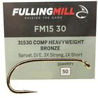 Fifty Fulling Mill Competition Heavyweight  Trout Fly Tying Hooks