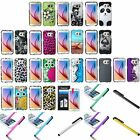 For Samsung Galaxy S6 Ultra Slim Rubberized Hard Case Cover Skin+Film+Stylus