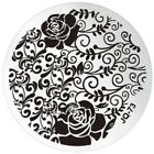 JQ Nail Art DIY Polish Printing Template Round Stainless Steel Plate HOT