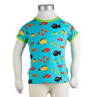 BNWT Boys Girls JNY Design Swimming Fish T-shirt NEW Organic Cotton Blue Top