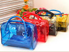 5 Color Woman PVC 2in1 Handbag Fashion Clear Transparent Bucket Medium Bag