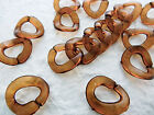 17x19mm 20/50/100g CLEAR BROWN ACRYLIC LINK CONNECTOR FINDINGS CHAINS C2221-954