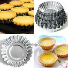 4 Sizes Egg Tart Aluminum Cupcake Cake Cookie Mold Lined Mould Tin Baking Tool