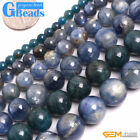 "Round Gemstone Blue Kyanite Beads Strand 15"" Free Shipping Selectable Size"