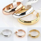 Mens Womens Simple Jewelry Width 4.5mm Band Wedding Plain Ring Couple's Gift 1PC