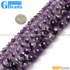 "Natural Round Amethyst Beads 15""Jewelry Making Gemstone Beads Free Shipping"