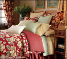 Chaps ELIZABETH FLORAL Reversible Comforter Set - French Country RED Khaki *NEW*