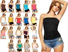 Womens Plus Big SIze Boobtube Bandeau Top Ladies Ruched Side Gather Casual Vest