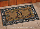 "Collections Etc Onogram Coco Door Mat ""M"""