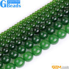 "Round Green Taiwan Jade Jewelry Making Loose Beads Strand 15"" Free Shipping"