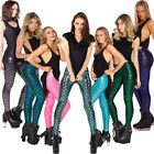 Women's Sexy Stretchy Fish Scale Mermaid Skinny Jeggings Seamless Leggings Pants