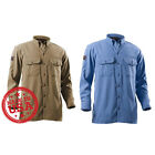 Drifire Woven Utility Long Sleeve 7oz 80 Mod/15 Cot/ 5 Twaron Shirt -Made in USA
