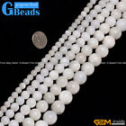 "Round Gemstone Natural Moonstone Loose Beads Strand 15""Free Shipping"