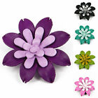 Leather Gerbera Flower Brooch, Pin, Clip fca3