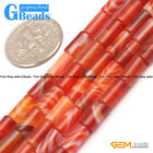 Natural Stripe Agate Onyx Gemstone Tube Beads For Jewelry Making Free Shipping