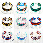 Hot sale Hand made Pattern braided color japanese Seed Beads Bracelet Pick Color