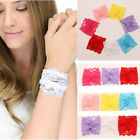 Women Lady Charm Lace Bracelet Bangle Wedding Bride Wristband Hairband Accessary