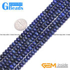 Blue Lapis Lazuli Gemstone Rondelle Spacer Beads Jewelry Making Free Shipping