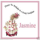 Handmade Personalised Birthday Card ANY AGE Girl Cousin Sister Niece Shoes