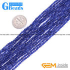 "Round Gemstone Lapis Lazuli Jewelry Making Beads Strand 15"" Free Shipping"