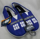 BBC Doctor Who Dr Tardis Slip-On Womens Sneakers Shoes Flats Police Call Box M-L