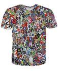 DC Logo Graffiti Sticky Bomb All Over Print  Tops T-shirt # A023