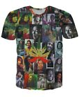 Bob Marley Collage All Over Printed Tee T-shirt # A015