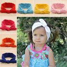 Cute Girls Toddler Baby Rabbit Ears Headband Bow Knot Hairband Turban 7 colors