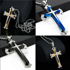 Hot Unisex's Men Silver Gold Stainless Steel Cross Pendant New Necklace Chain