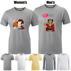 Disney Cartoon Beauty and the Beast Love Pattern Long Short Sleeve T-shirt Tee