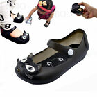 Girl Boy Baby Summer Ankle Strap Soft Shoes Jelly Black Cute Sandals Size 4-7