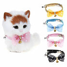 Chiwava Shiny Rhinestone Bowknot PU Leather Safety Elastic Cat Collar with Bell