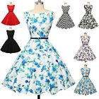 PLUS SIZE Vintage Swing 1950's 1960s Housewife Retro Style Pinup DANCE TEA Dress