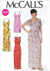 McCall's 7161 Paper Sewing Pattern to MAKE Easy Dresses w/Slit Detail 2 Lengths