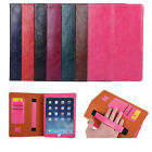 2 in 1 Leather Smart Case Holding Stand Wallet Cover for iPad 2 3 4 Mini Air